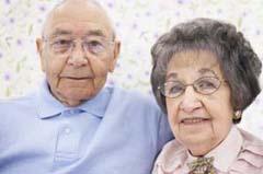 Photo of happy senior coupl