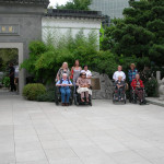 Staff and residents of Victorian Quality Elder Care at Portland Chinese Garden